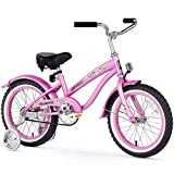 Firmstrong Girl's Bella Bicycle with Training Wheels, 16-Inch, Pink
