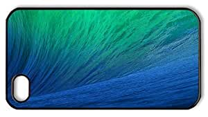 Hipster buy iPhone 4 cover green blue ocean wave PC Black for Apple iPhone 4/4S