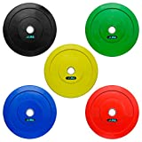 JLL Coloured Olympic Bumper Weight Lifting Plates (2 x 20kg (40kg))
