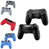 PS4 Controller Silicone Case Cover, Insten 4-Pack Silicone Controller Case Combo Compatible With PlayStation 4 PS4 Controller, Black/ Red/ Blue/ Clear White Review