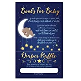 Moon Bear Baby Shower Diaper Raffle Cards, Moon Bear Book Request Cards, Twinkle Twinkle Little Star, Boy, Love You to The Moon and Back, 50 Count