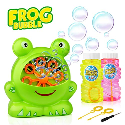 Bubble Machine, Baztoy Boys Girls Toys Over 500 Bubbles Per Minute Durable Automatic Bubble Blower for Kids with 2 Extra Bubbles Solution for Birthday Party, Indoor and Outdoor by Baztoy