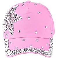Clearance! Kids Child Toddler Boy Girls Bling Rhinestone Baseball Hat Summer Sun Protection Hat Cap