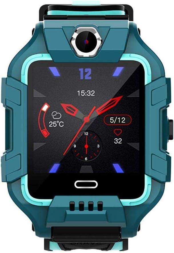 Reloj para niños, reloj para niños con teléfono 4G Reloj de pulsera con posicionamiento GPS inteligente Rastreador de ejercicios deportivos Regalos para niños, visualidad clara, marcación gratuita par