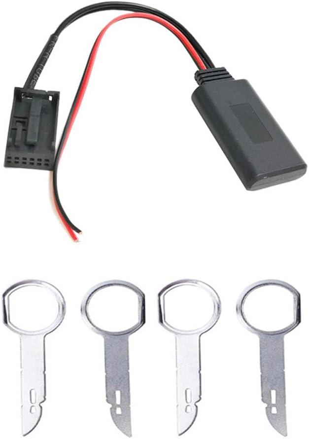 Car 6000 CD Adaptador de música Bluetooth Adaptador de Cable de Audio Auxiliar inalámbrico Bluetooth para Ford Focus Mondeo 6000CD