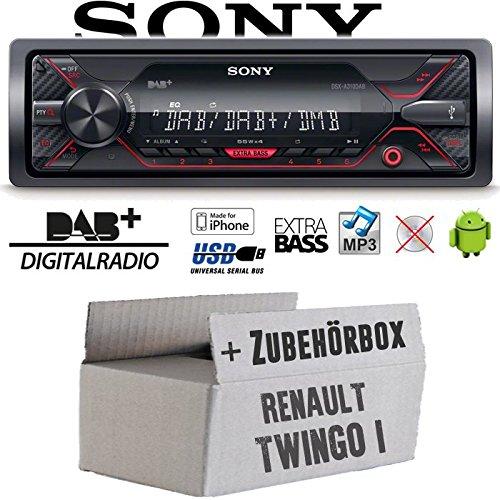 Renault Twingo 1 - Autoradio Radio Sony DSX-A310DAB - DAB+ | MP3/USB - Einbauzubehö r - Einbauset JUST SOUND best choice for caraudio ReTw1_DSX-A310DAB