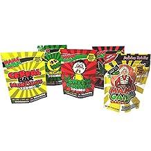 """50 Mama Ganja Bags 5 x 7"""" Assorted Mix Mylar Bags for Medical Marijuana Edibles"""