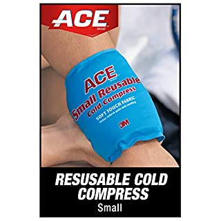 ACE Reusable Cold Compress, Ideal for Sprains, Strains, Muscle Aches, Bumps, Bruises and Minor Burns, Small