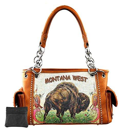 Montana West, L Sac à bandoulière Brown Byzon Image pour femmes