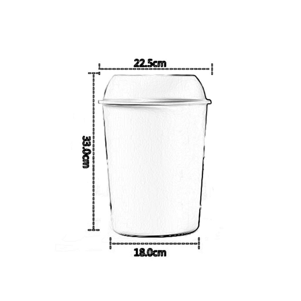 TZAI Basura para el hogar plástico Creativo Europeo sin sin sin Tapa (Color : Blanco) a9fecd