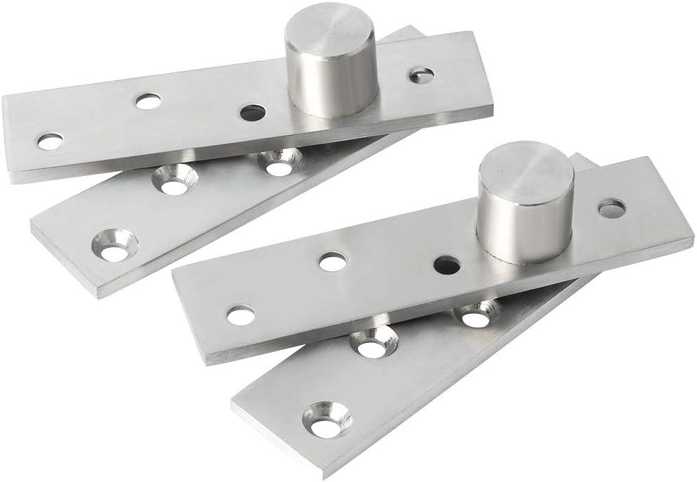 Sayayo bisagras pivotantes para puerta de 360 grados, bisagra giratoria de acero inoxidable para puerta oculta, acabado cepillado, 2 unidades, EJL5100P-2P