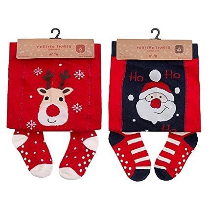 Leotardos de Navidad para bebé niña, rojo, Papá Noel o reno rojo ...