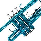 Mendini by Cecilio Sky Blue Trumpet Brass