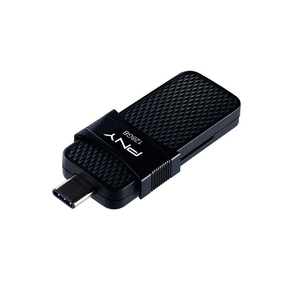 PNY Duo Link OTG 128GB Type-C Drive, Up to 130MB/S - P-FD128OTGSLTC-GE