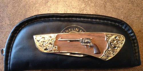 Franklin Mint Colt Collectible Knife - Single Action Army Peacemaker Folder ()