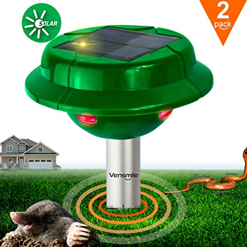 2x VS-312S Solar Powered Snake Repellent Help You Get Rid of Snake Mole Gophers for Outdoor Garden (Away Repellent)