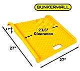 Curb Ramp - Heavy Duty 1000 lbs Load Capacity - Yellow High Density Polyethylene for Hand Truck Delivery