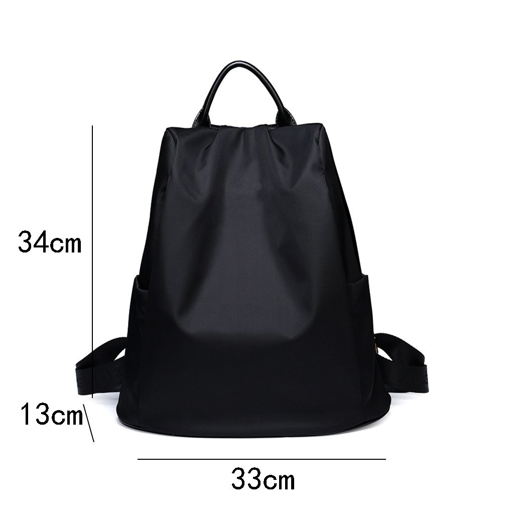 CozyHome AAA Backpack female anti-theft bag Oxford fabric waterproof and wearable leisure bag Color : Black
