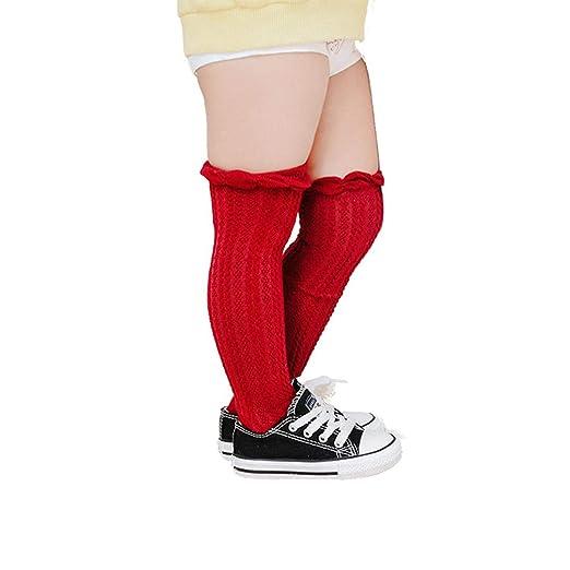Amazon.com: Baby Girl Boy bebé calcetines de algodón rodilla ...
