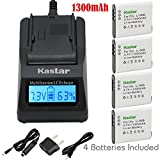 Kastar Ultra Fast Charger(3X faster) Kit and Battery (4-Pack) for Olympus LI-90B, LI-92B, UC-90 work with Olympus SH-1, SH-50 iHS, SH-60, SP-100, SP-100EE, Tough TG-1 iHS, Tough TG-2 iHS, Tough TG-3, XZ-2 his Cameras [Over 3x faster than a normal charger with portable USB charge function]