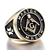 ZMY Mens Fashion Jewelry Freemason Design 316L Stainless Steel Rings Gold Titanium Master Masonic Ring For Men (9)