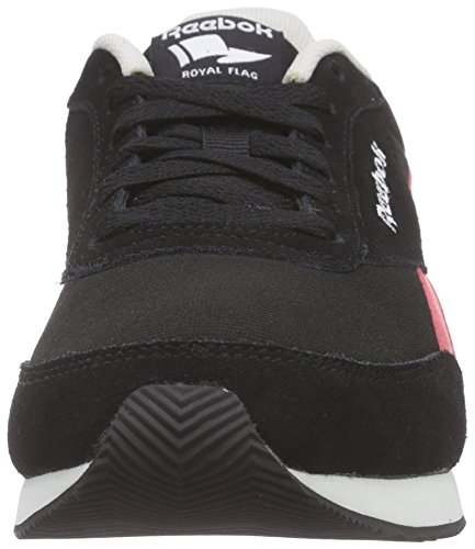 Reebok Royal Cl Jog 2rs, Zapatillas de Running para Mujer Negro / Rosa / Azul / Blanco (Black/Fearless Pink/Ele Blue/Steel/White)