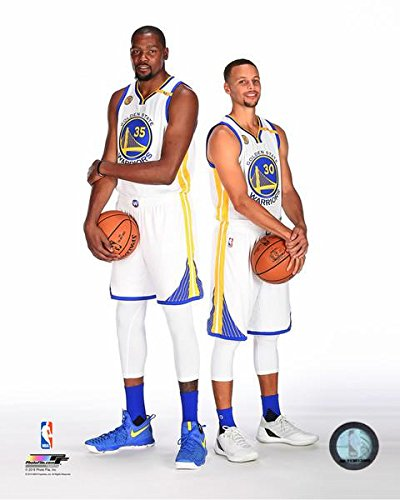 Kevin Durant Party Supplies (Kevin Durant Stephen Curry Golden State Warriors 2016-2017 NBA Posed Photo (8