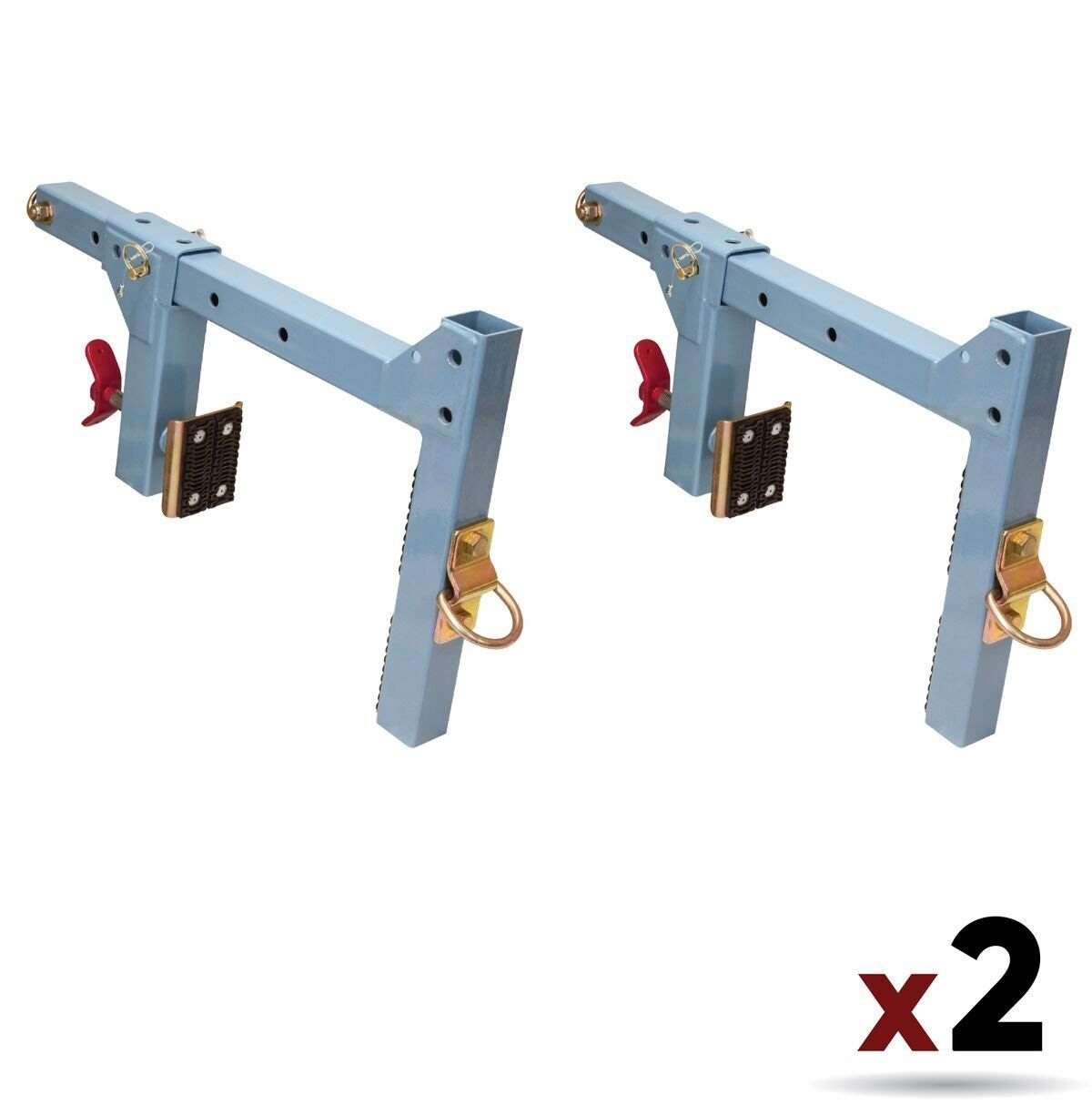 FallTech 7460A Multi-Purpose Parapet Anchor for Temporary Fall Arrest Anchorage fits Parapet Walls 1/2 to 15'' Thick, No Fasteners Required, Blue (2 Pack)