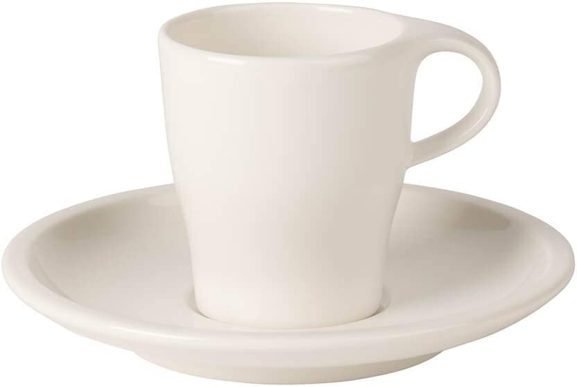 Coffee Passion Espresso Cup & Saucer Set by Villeroy & Boch - Premium Porcelain - Made in Germany - Dishwasher and Microwave Safe - 3 Ounce Capacity