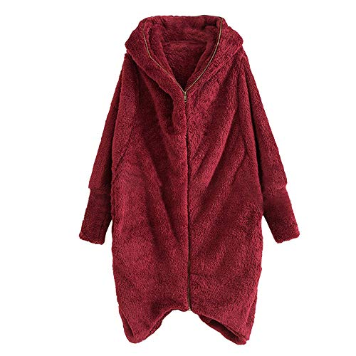 Down Coats for Women, Women Casual Hoodie Winter Solid Zipper Pockets Irregular Cardigan Coat Outwear, Plus Size Coats for Women 5X 6X -