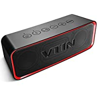 VTIN Portable Bluetooth Speaker with IPX6 Waterproof,...