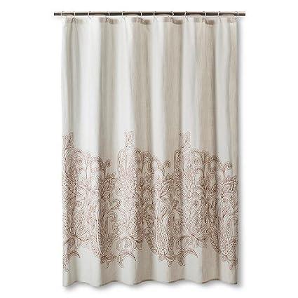 ThresholdTM Kareem Embroidered Paisley Shower Curtain