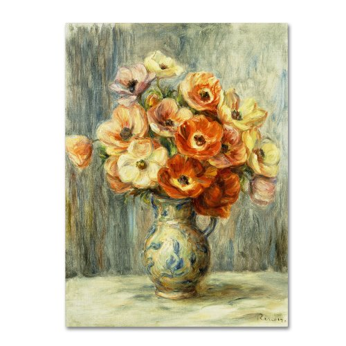 (Vase d'Anemones Artwork by Pierre Renoir, 24 by 32-Inch Canvas Wall Art)