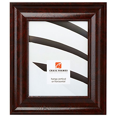Burl Picture Frame - Craig Frames 16x20-Inch Picture Frame, Smooth Finish, 2.375-Inch Wide, Mahogany Burl (50005)