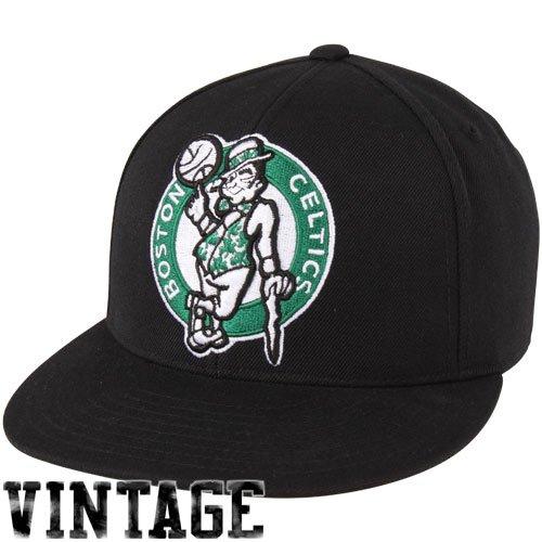 Mitchell & Ness Boston Celtics Vintage LOGO Fitted CAP(Black) 7 5/8