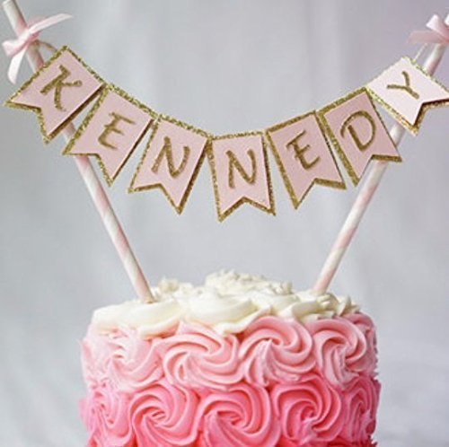 Favorite Birthday Name Cake Banner Personalised Party Decoration. Cake  LC16