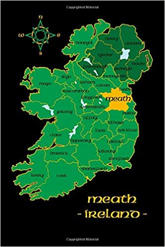 Meath Ireland County Map Irish Travel Journal Republic Of Ireland