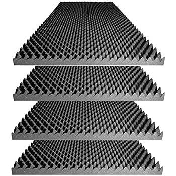 "Foamily Acoustic Foam Egg Crate Panel Studio Foam Wall Panel 48"" X 24"" X 2.5"" (4 Pack)"