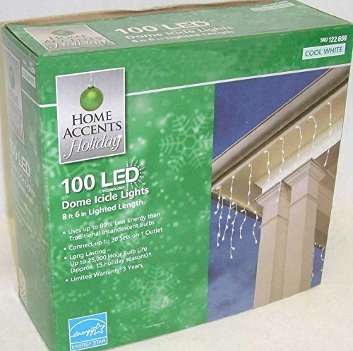 100 Led Dome Icicle Lights in US - 1