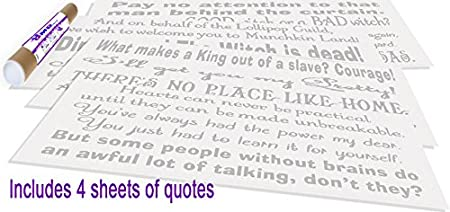 Amazoncom Gmd Decals Wizard Of Oz Assorted Decorations Quotes Set