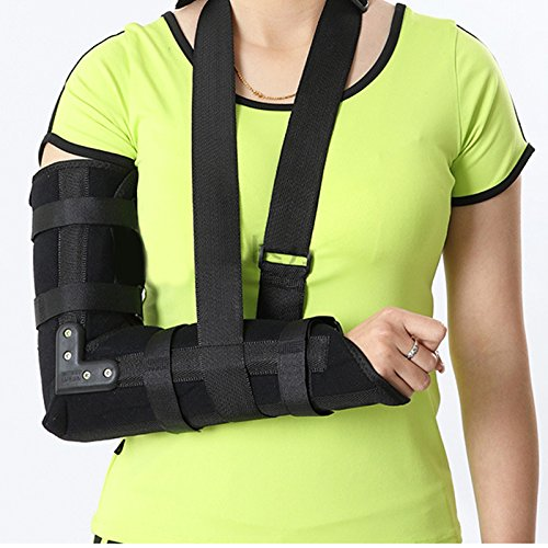 Zinnor Arm Sling,Arm Sling Elbow Shoulder Padded Support Brace Humerus Brace Splint,Medical Grade Quality, Breathable, Helps Support&Elevate Arm,Injury Recovery,Pre/Post Surgery (Large -(19.6'')) by Zinnor