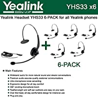 Yealink YHS33 6-PACK Wideband Headset for Yealink IP Phones, plug and play