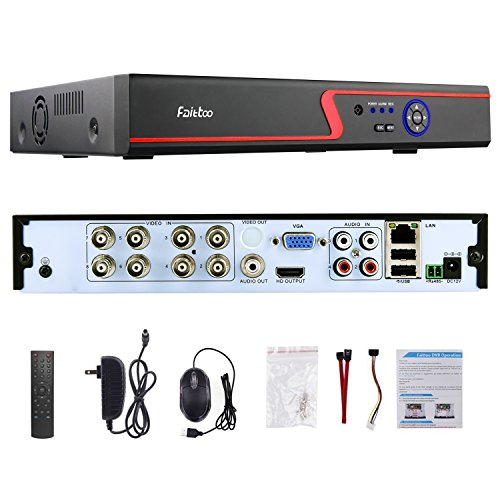8 Channel Dvr Board (Faittoo H.264 8CH 1080N AHD DVR Hybrid AHD+HVR+TVI+CVI+NVR 5-in-1 Security Surveillance System Standalone Realtime Digital Video Recorder Motion Detection Remote Control View HDMI Output, NO HDD)