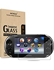 (Pack of 2) Screen Protector for PS Vita 2000, Akwox Premium HD Clear 9H Tempered Glass Screen Protective Film for Sony Playstation Vita PSV 2000-Max Clarity and Touch Accuracy Film