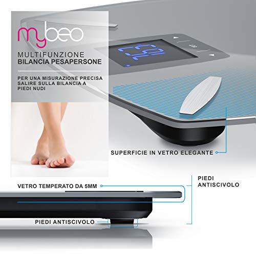 MyBeo Bilancia pesapersone digitale antiscivoloBilancia antiscivolo digita...