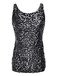Women's Sequin Embellished Tank Top Vest