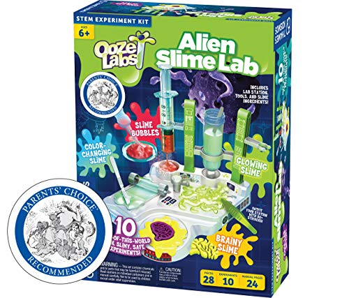 Thames & Kosmos 642106 Ooze Labs: Alien Slime Lab Science Experiment Kit & Lab Setup, 10 Experiments with Slime | A Parents' Choice Recommended Award Winner