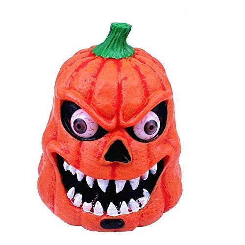 Pumpkin Ghost Lamp Figurines LED Light Humor Creative Sound Sensitive -