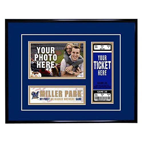 - That's My Ticket Tffgbbmil Milwaukee Brewers First Game Frame