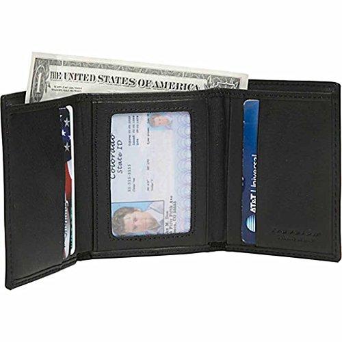 Wallet Travelon RFID Blocking Trifold Wallet - Black Mens Wallet NEW